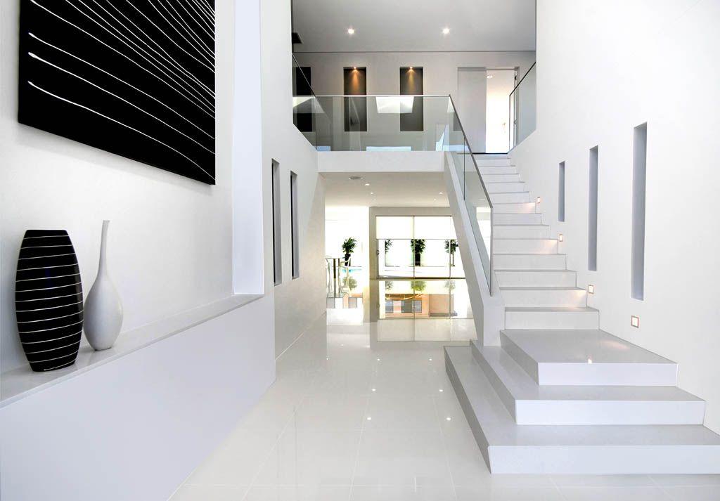 #modern home #white Karlson Homes caesar stone floor tiles ...
