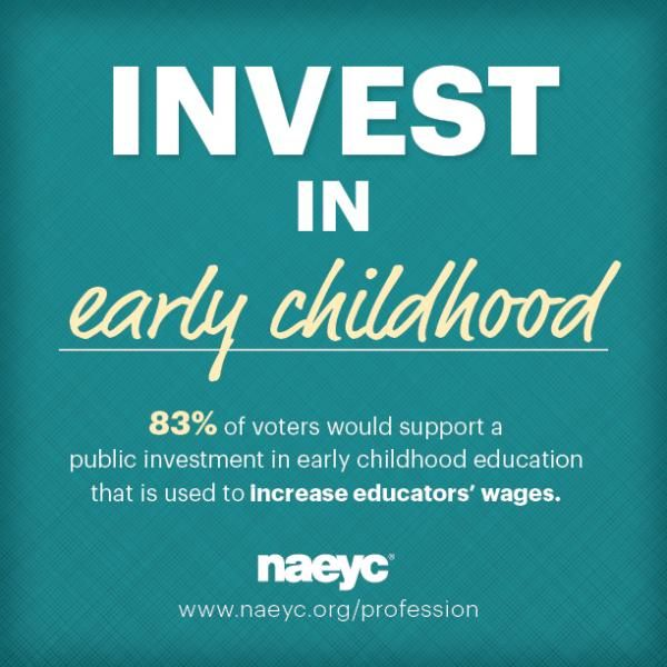 "Say ""Yes!"" to investing in Early Childhood Education! Stand with NAEYC and share if you agree! #ECE #EarlyEd #EarlyLearning"