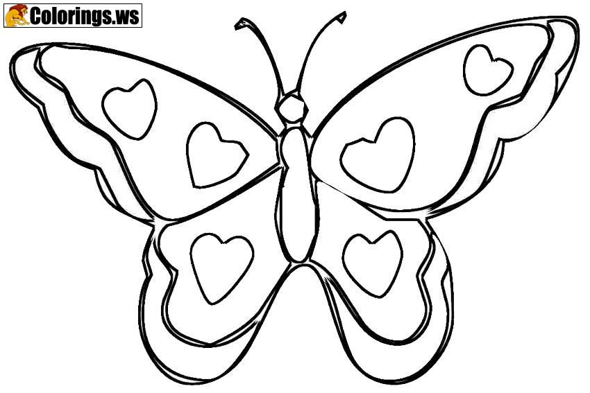 Unique Butterfly Coloring Page For Teenagers Butterfly Coloring