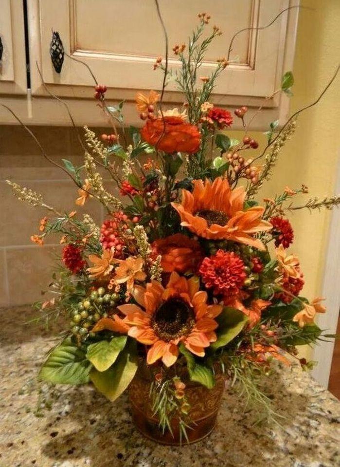 Thanksgiving Floral Arrangements DIY Thanksgiving floral