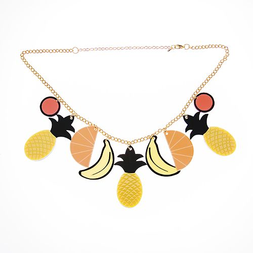 Frida's Fruit Basket necklace. All the fruit is not found in just one field.