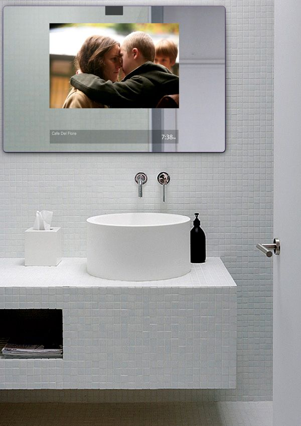 Smart Mirror 2 0 Shows Movies And Plays Music Bathroom