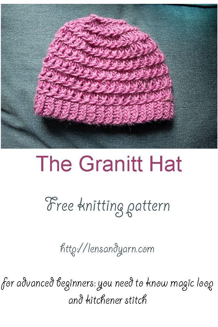 The Granitt hat is a free knitting pattern for the adventurous ...