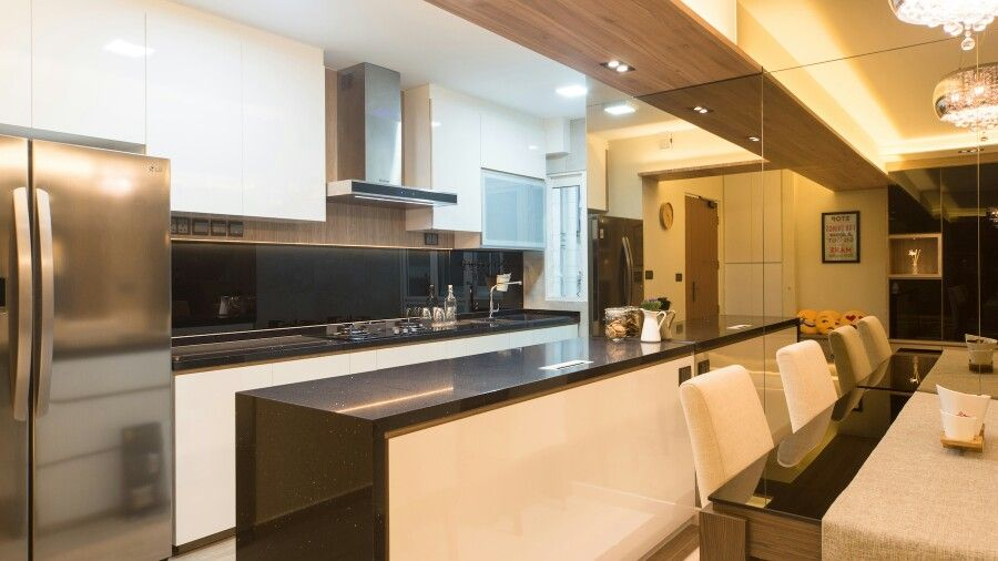 Modern Kitchen Quartz Countertops open concept kitchen and island cabinet with quartz countertop