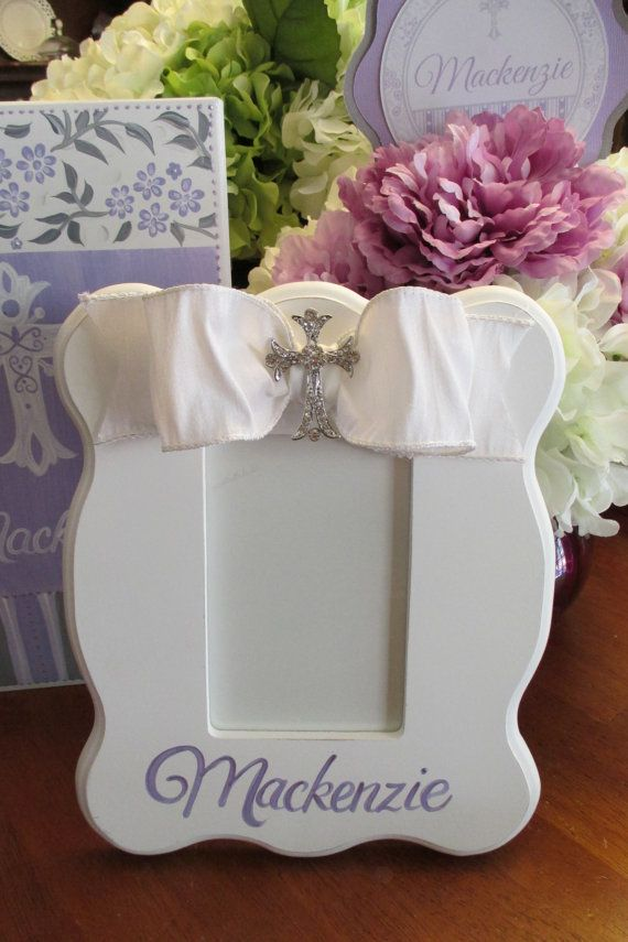 Hand painted personalized first communion or christening picture ...