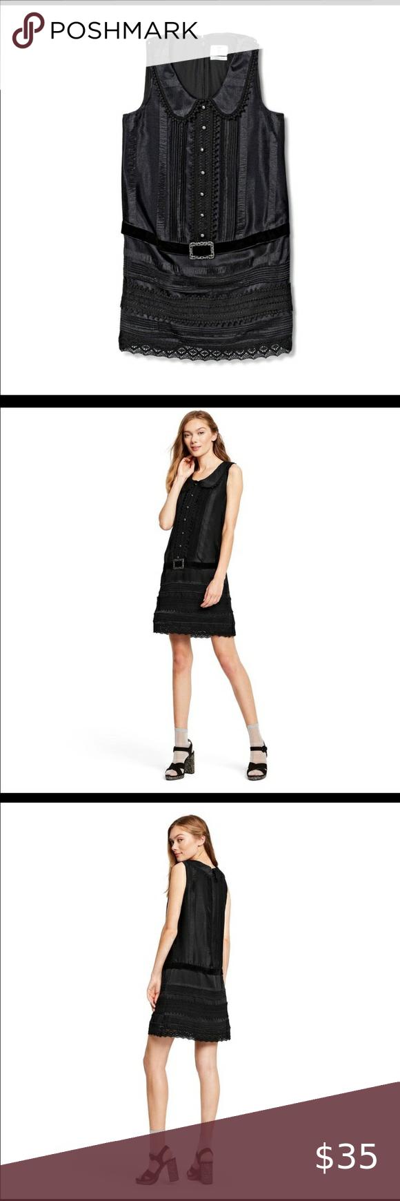 Anna Sui For Target Textured Black Dress Black Dress Glitz Dress Small Dress [ 1740 x 580 Pixel ]