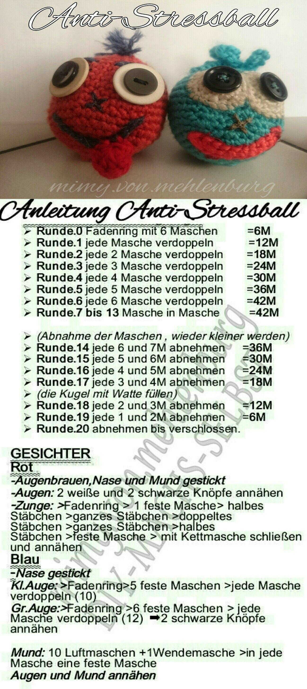 Anti Stressball Häkeln Mit Deutscher Anleitung Schnell Und Einfach