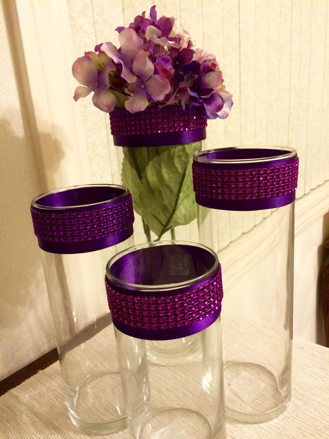 4 purple bling cylinder centerpiece vases by fancyitup1 on etsy 4 purple bling cylinder centerpiece vases by fancyitup1 on etsy reviewsmspy