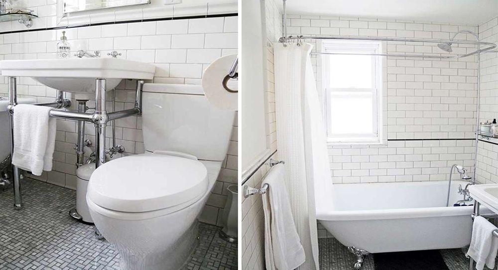 avant aprs insuffler un esprit rtro dans la salle de bains - Salle De Bain Retro Blanche