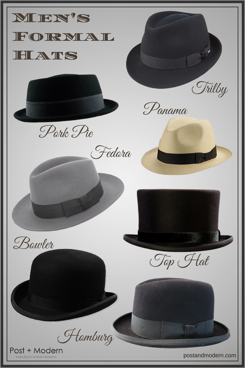 Men s Formal Hat Styles (Infographic) - Post + Modern  bfd3237364f