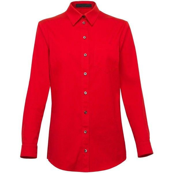 80a72c83 Gucci Viaggio Long Sleeve Shirt ($263) ❤ liked on Polyvore featuring tops,  shirts