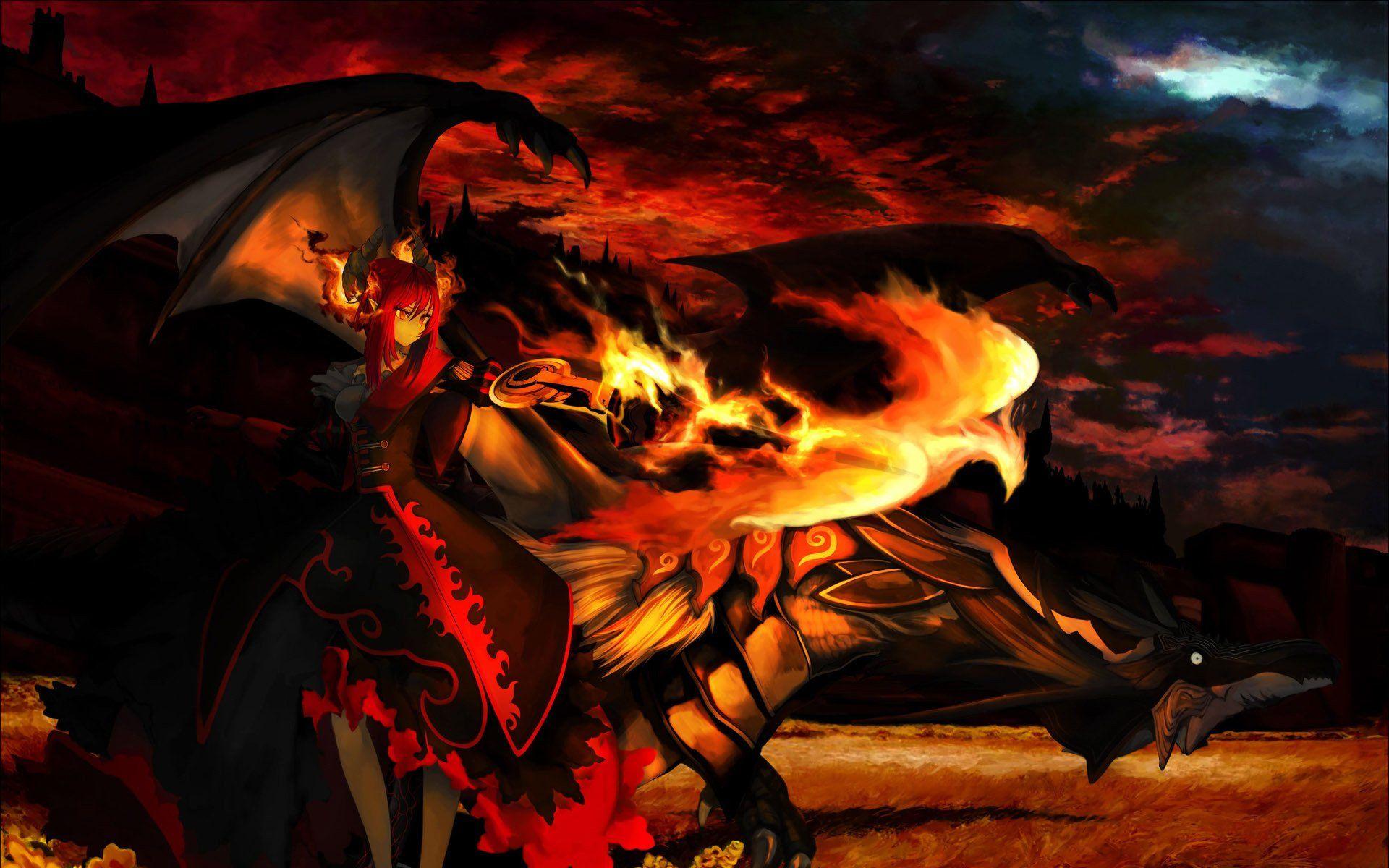 Demon Woman Dragon Fire Jpg 1920 1200 Phoenix Wallpaper Dragon Ball Wallpaper Iphone Awesome Anime