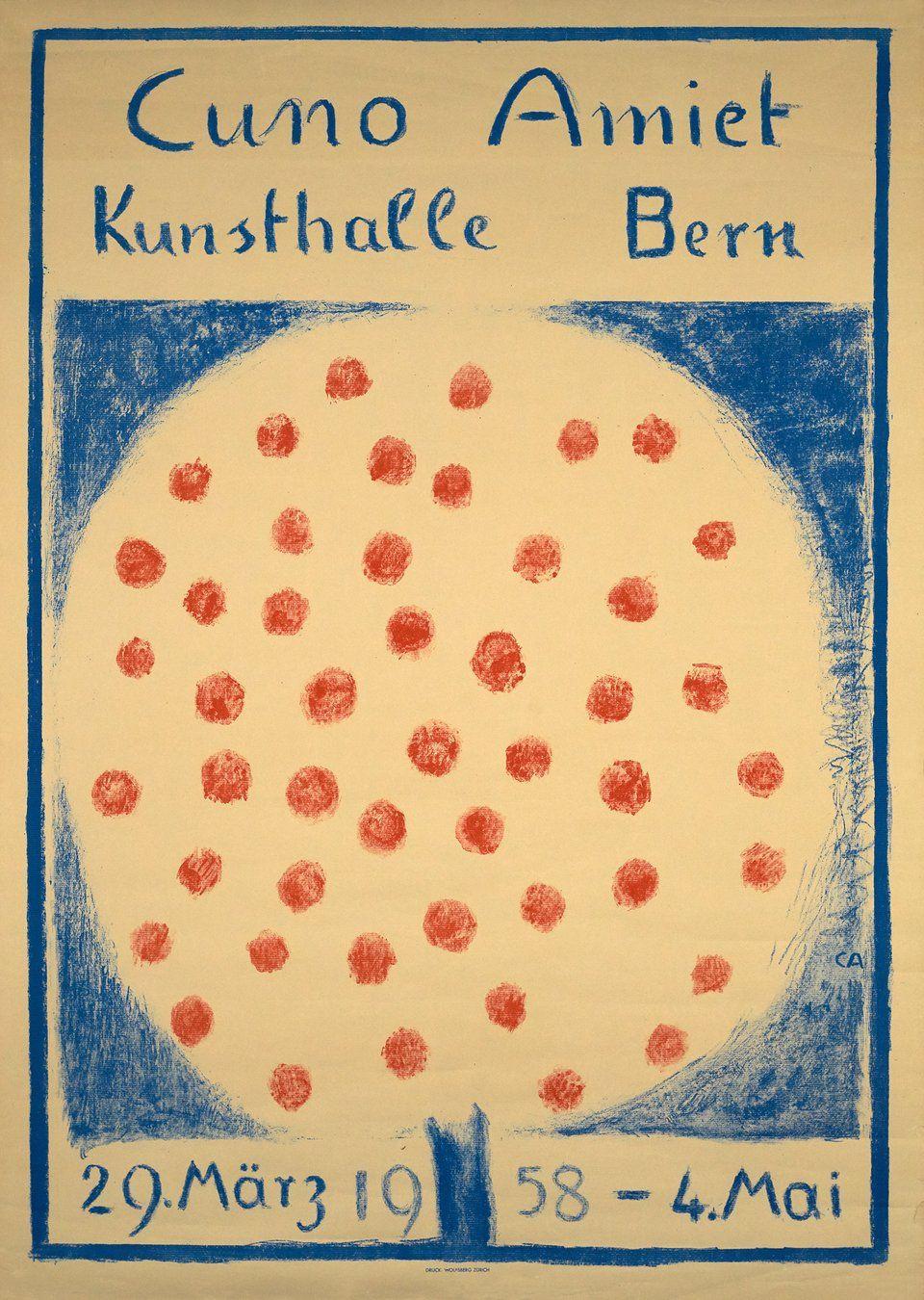 Cuno Amiet Kunsthalle Bern 1958 Cuno Amiet 1958 Vintage Posters