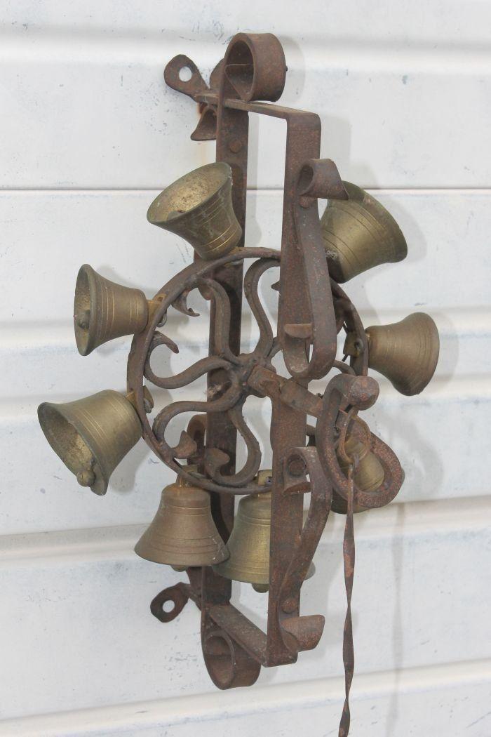 Door bell Brass Bell, Door Bells, Antique Doors, Antique Brass, Wind Chimes - Door Bell Bells Pinterest Belle, Antiques And Wrought Iron