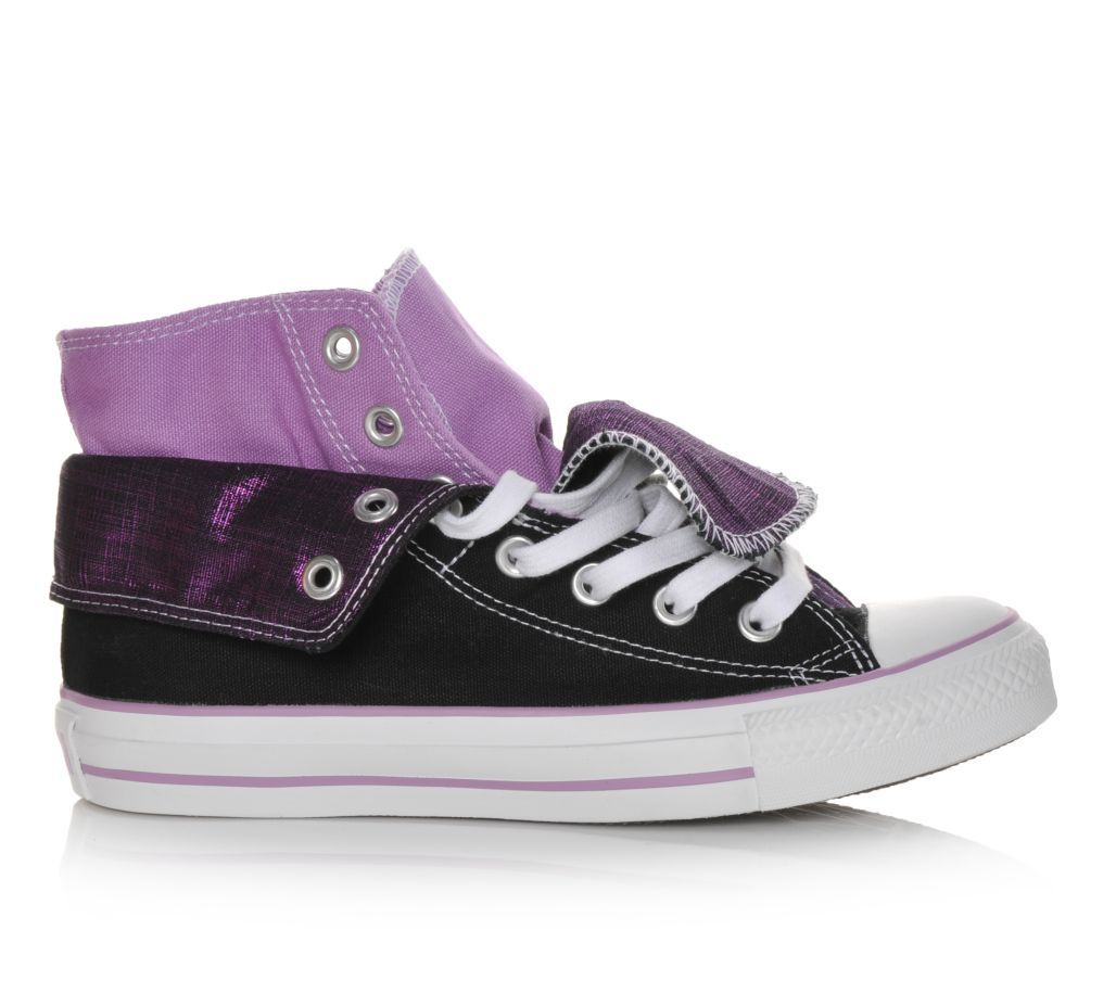 Women's Converse Chuck Taylor High-Top Fold-Over Shoes #ShoeCarnival