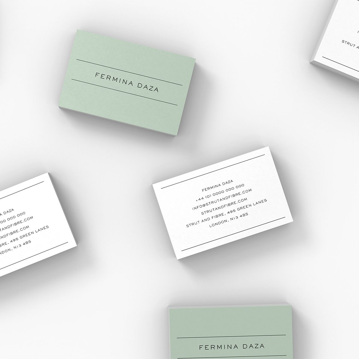 Daza – one of our Classic business card templates available to ...
