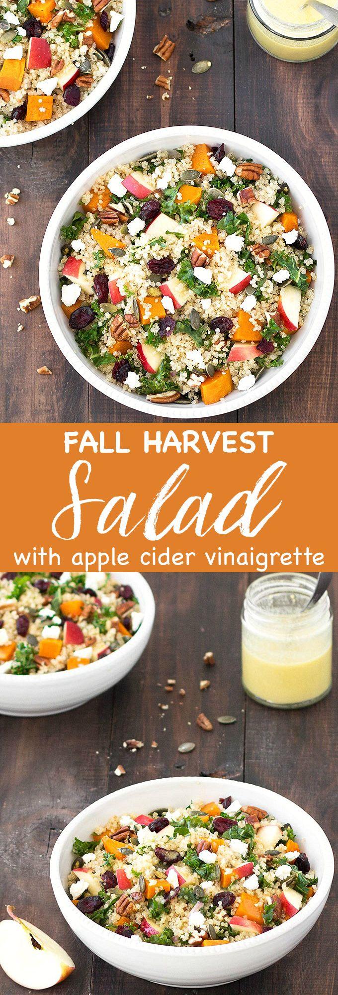 Photo of Fall Harvest Salad with Apple Cider Vinaigrette