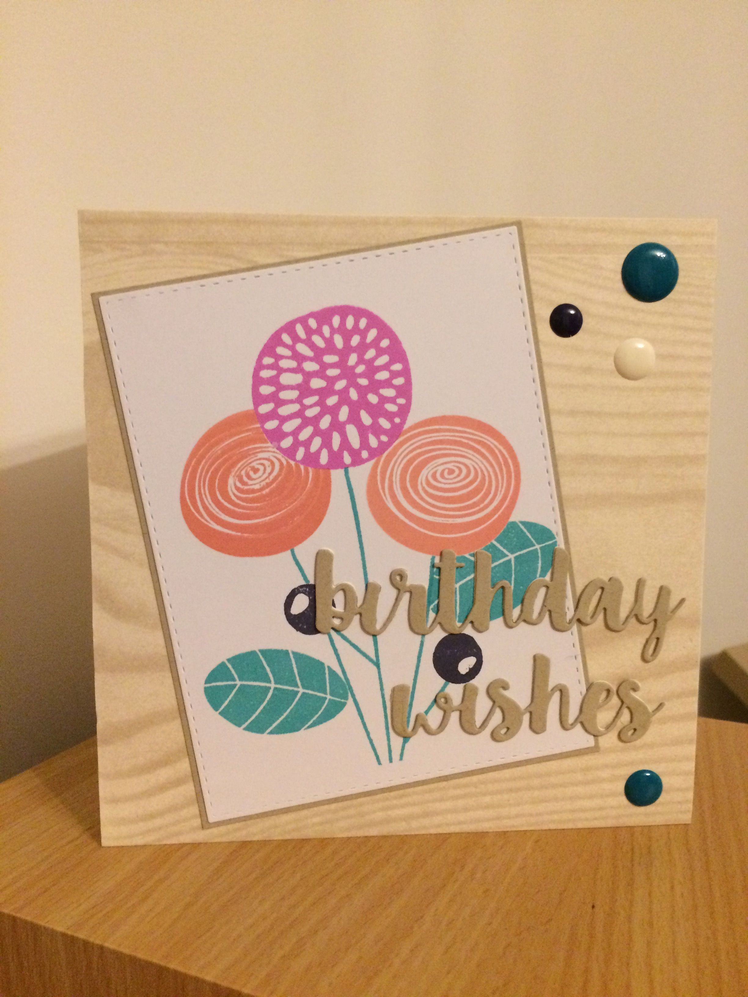 altenew simple flowers stamps with my favorite things dies
