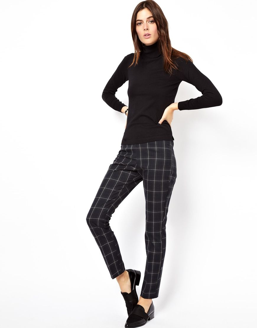 ASOS | Online shopping for the Latest Clothes & Fashion. Preppy StyleMy  StylePlaid PantsHigh Waist PantsFashion CheckAsos ...