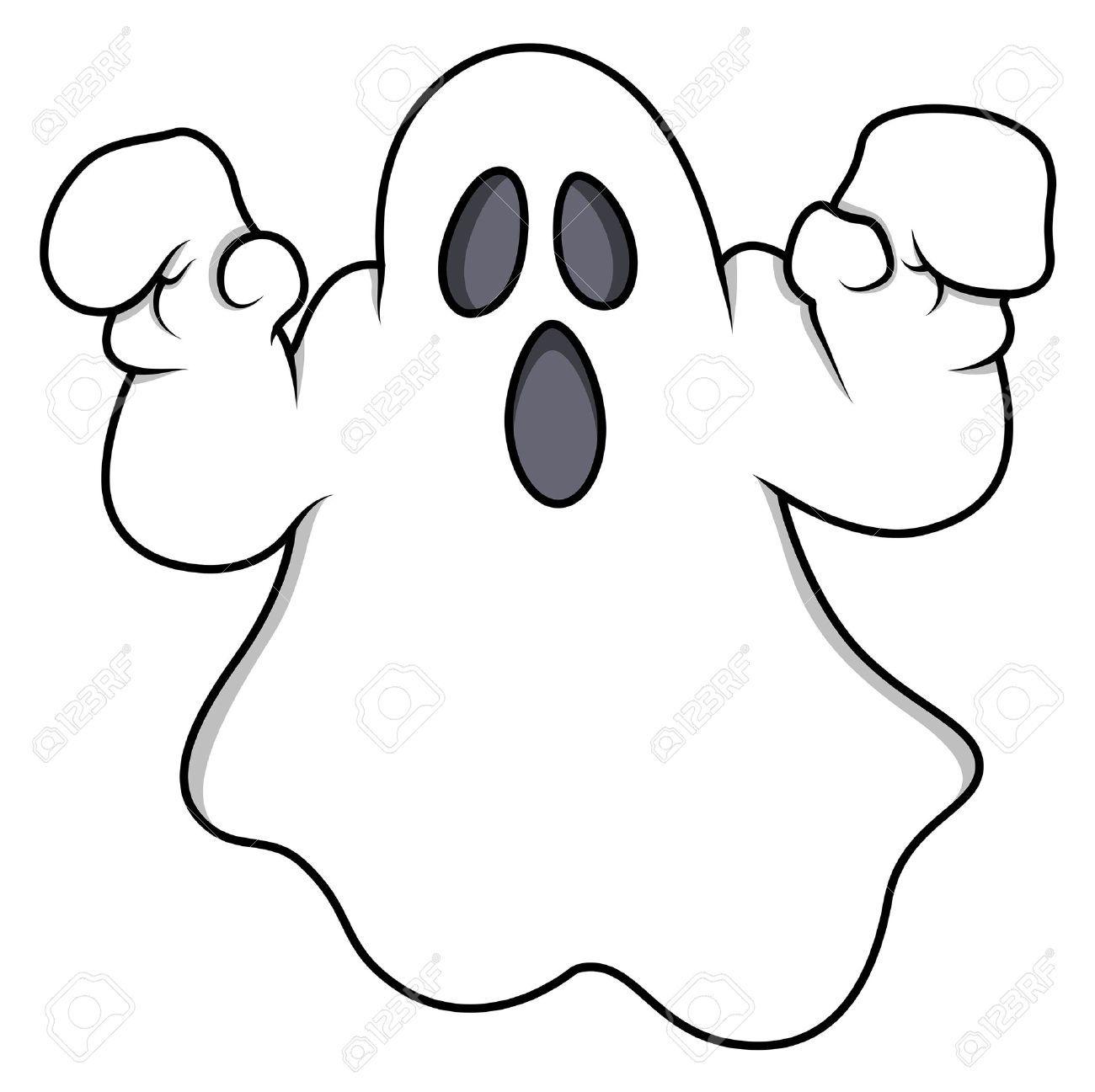 Cartone animato fantasma illustrazione vettoriale