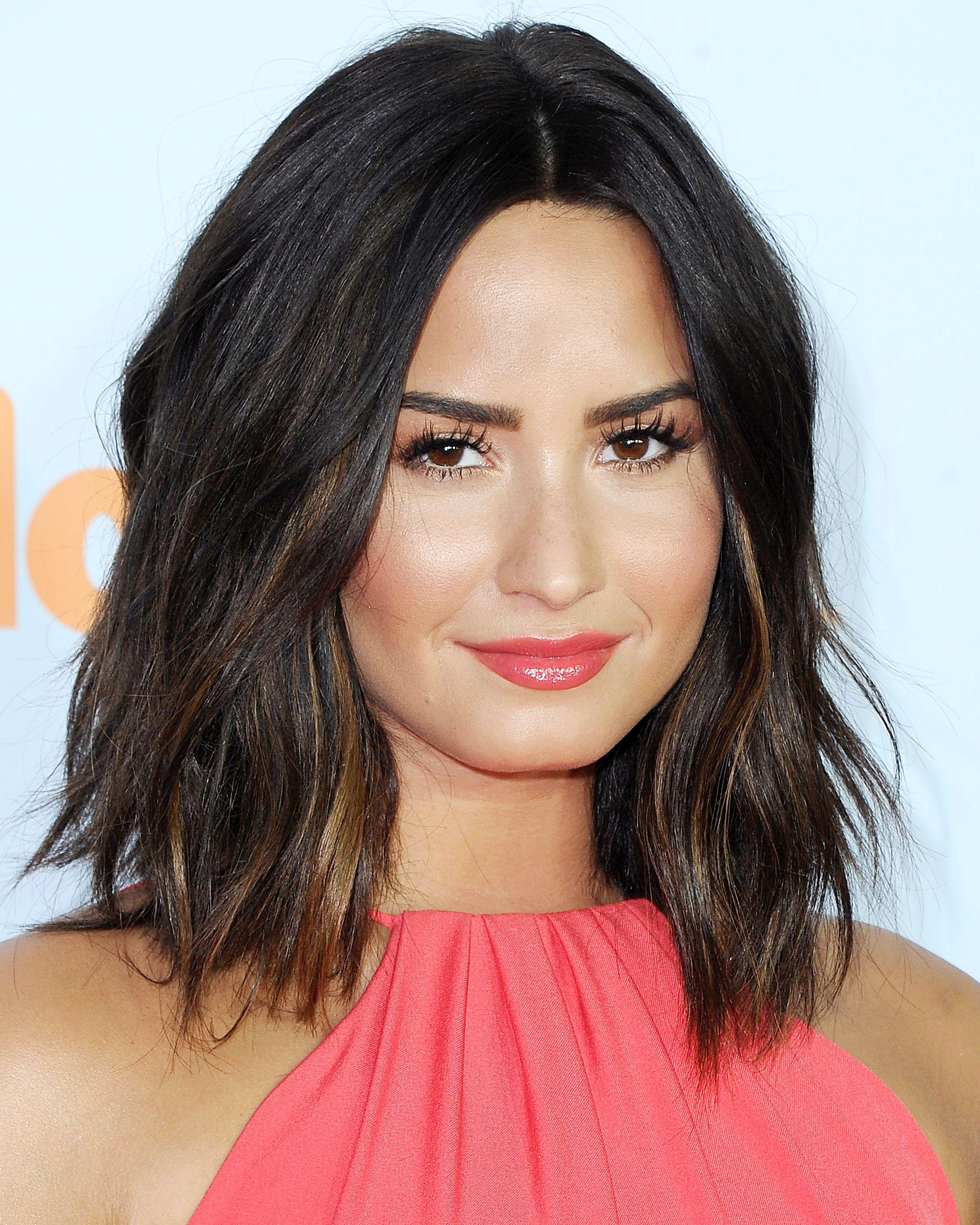 celebrity lob haircuts