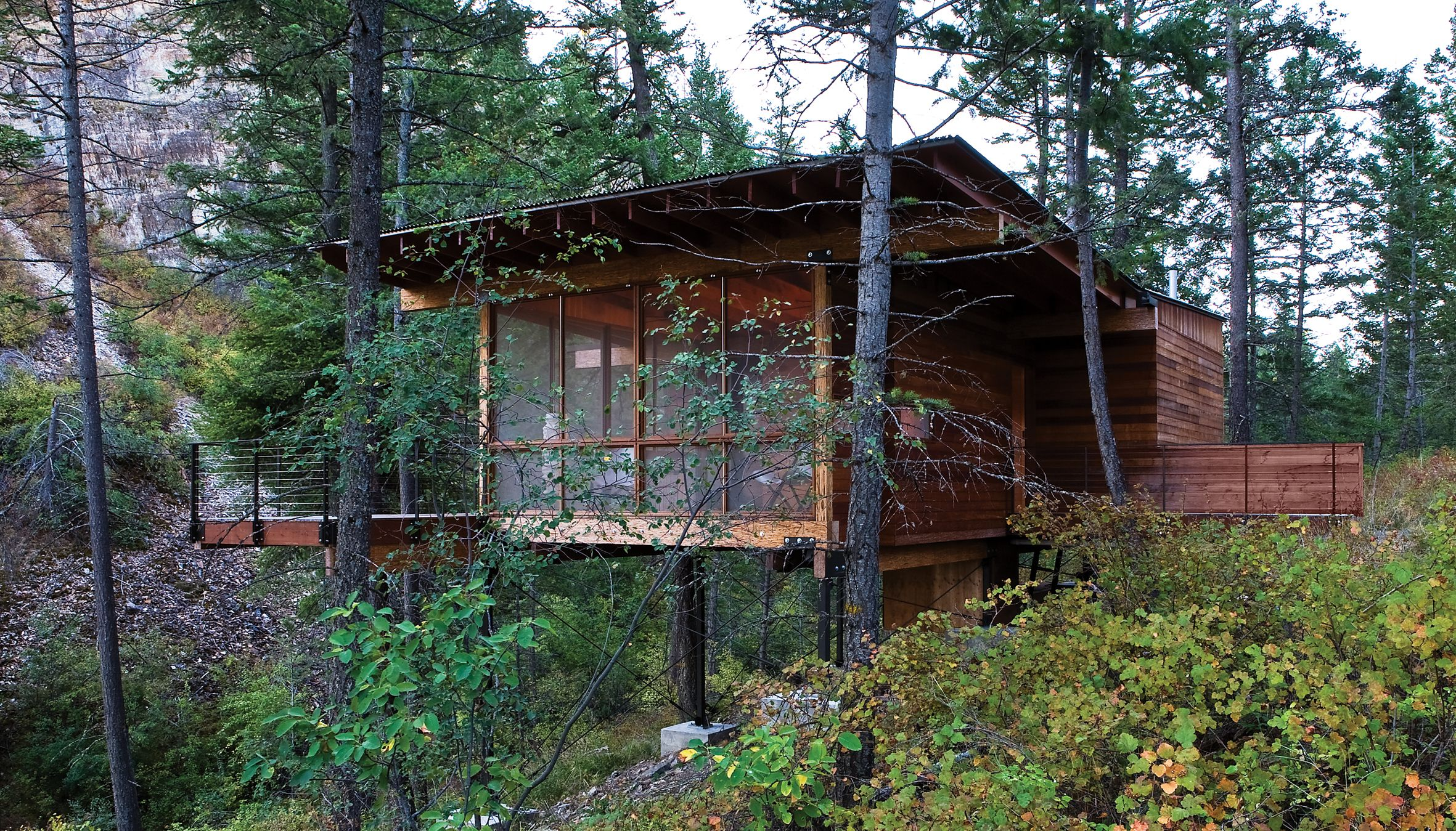 Wood Cabin By Andersson Wise Architects, Polson, Montana, USA