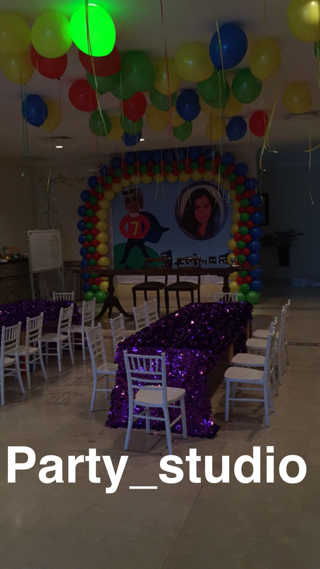 Birthday party in Kuwait by party studio Princess party outdoor in