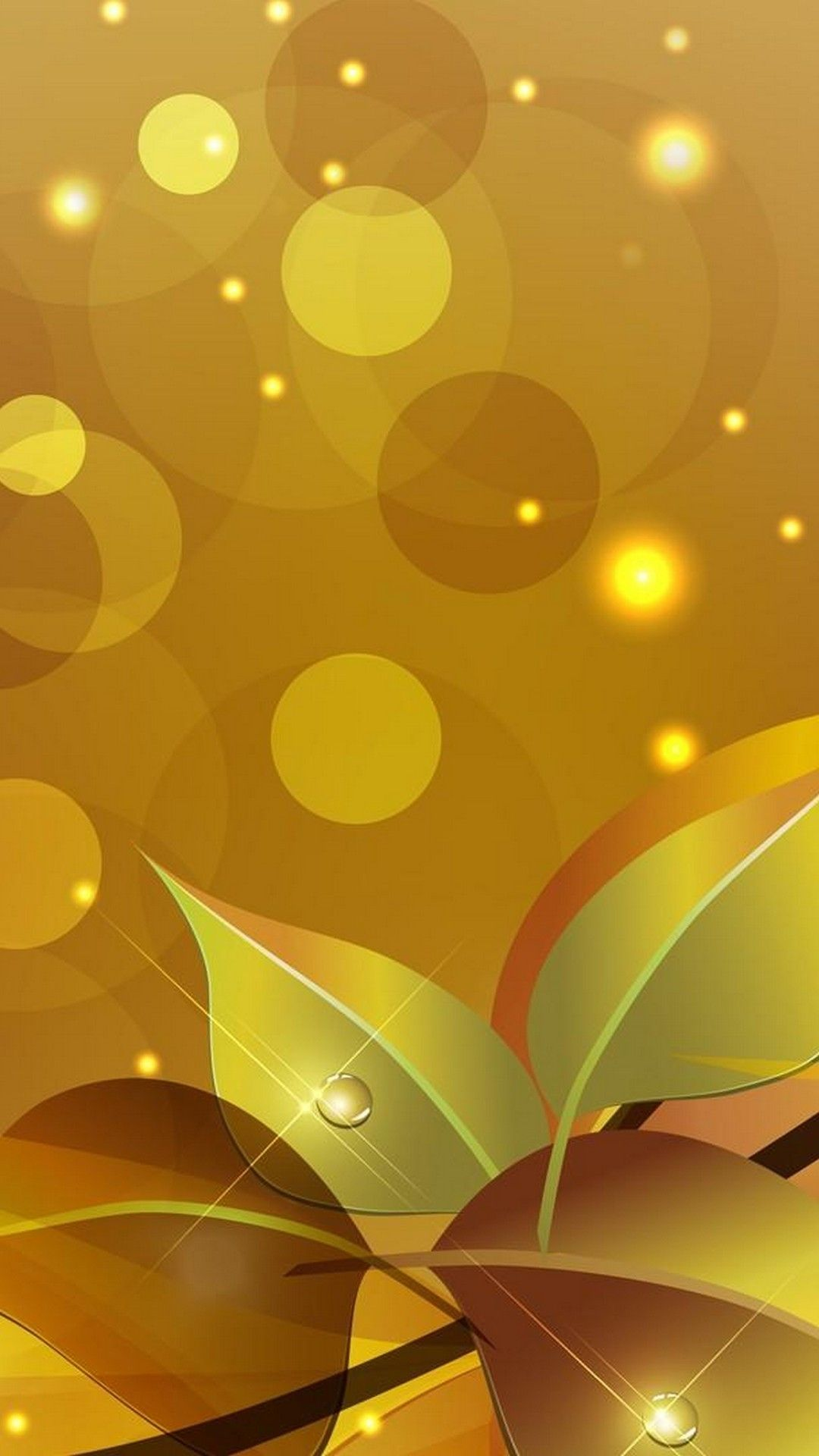 PhoneWallpaper Gold Wallpaper Android Seni