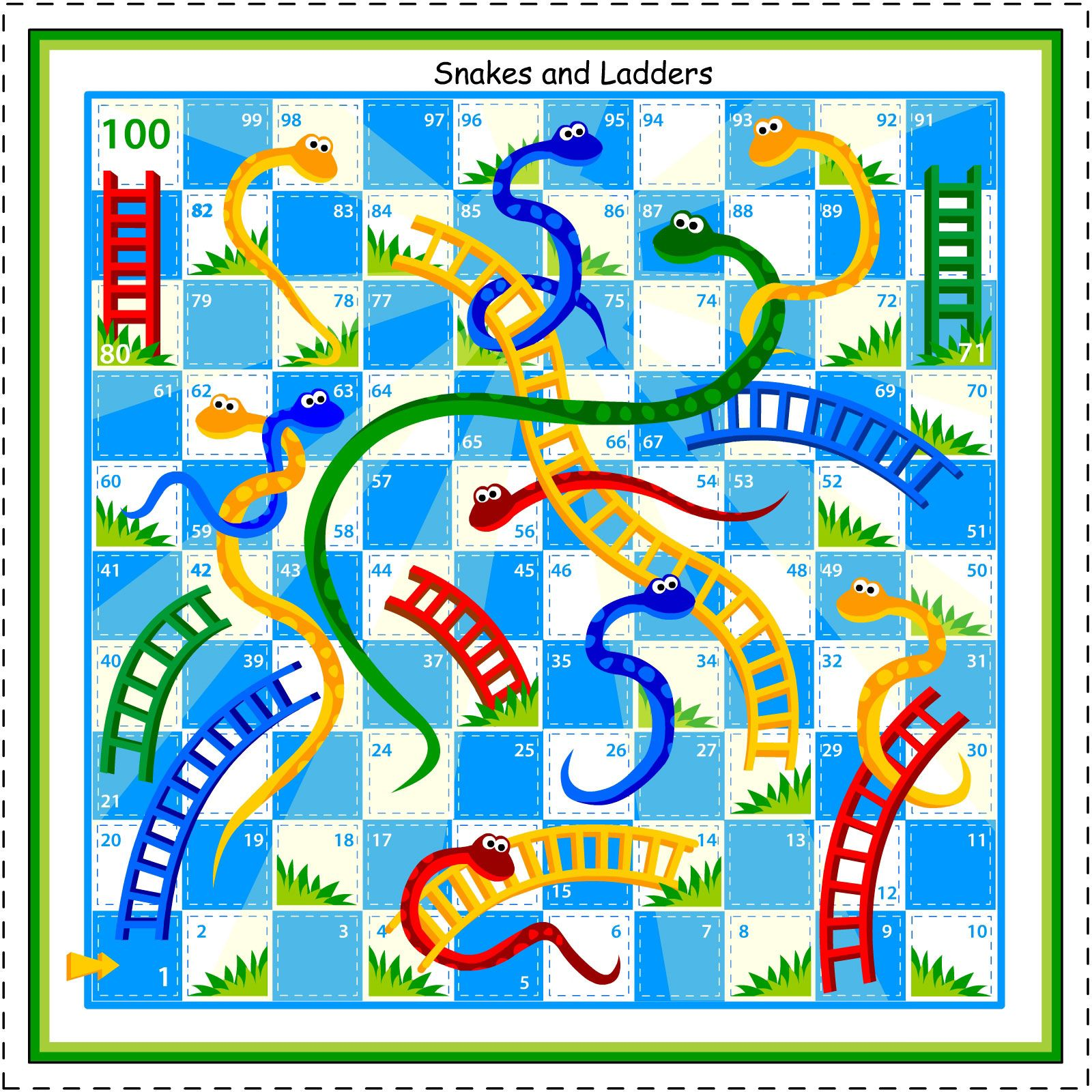 snakes and ladders template - Google Search | Wiskunde | Pinterest ...
