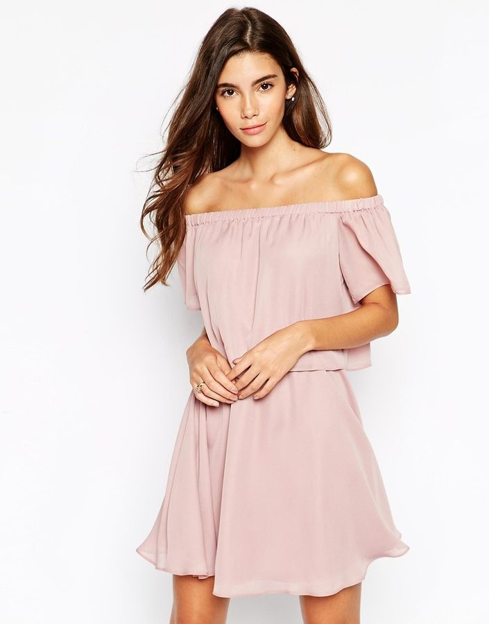 1a19d8db2a ASOS Gypsy Off Shoulder Dress with Short Sleeves on shopstyle.com ...