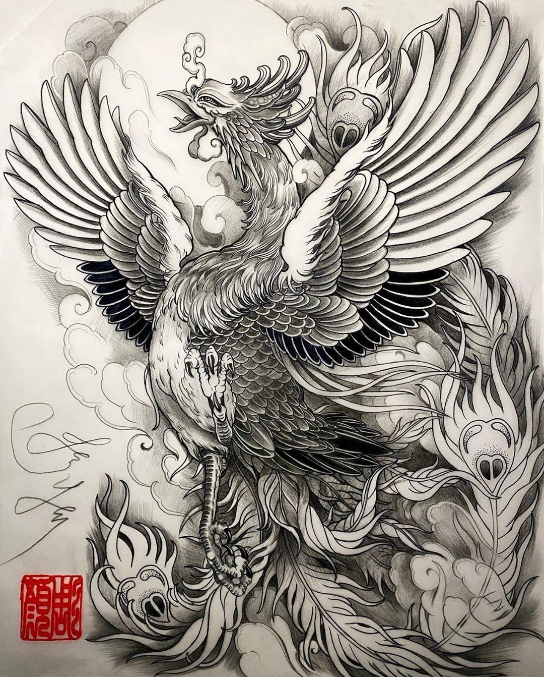 Asianinkandart On Instagram Phoenix Artwork By Artist Jessyentattoo Jessyendotcom Asianinkandart In 2020 Phoenix Artwork Phoenix Design Phoenix Tattoo