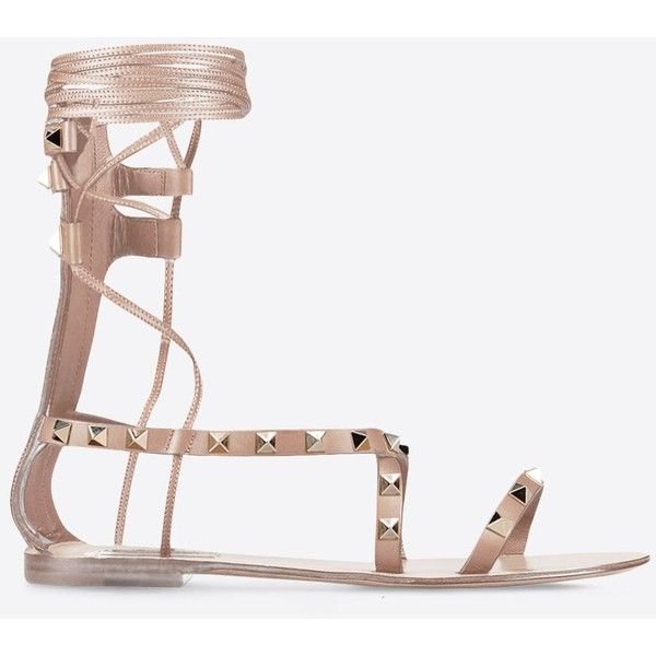 a38d9e7329f Valentino Garavani Rockstud Gladiator Sandal ( 765) ❤ liked on Polyvore  featuring shoes