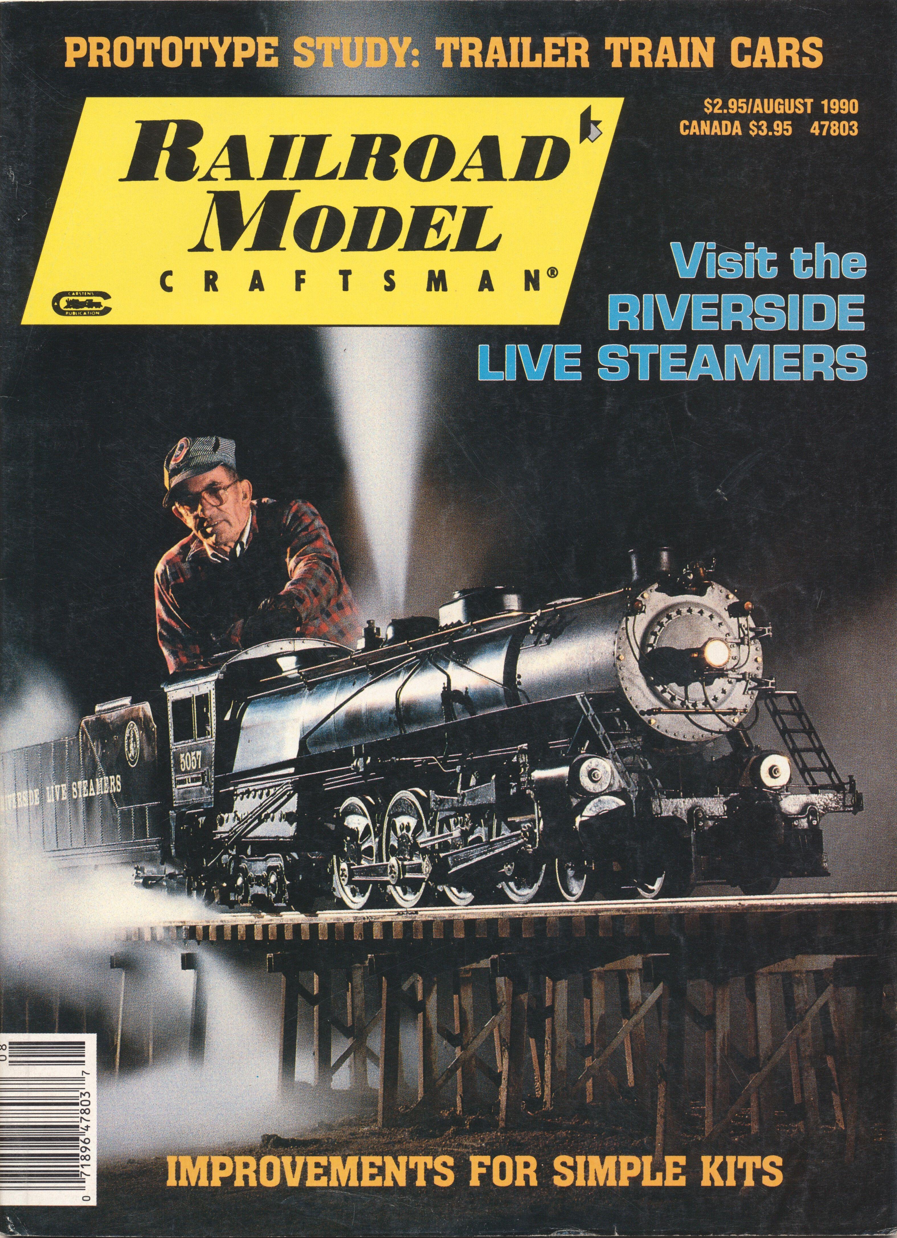 Railroad Model Craftsman, August 1990