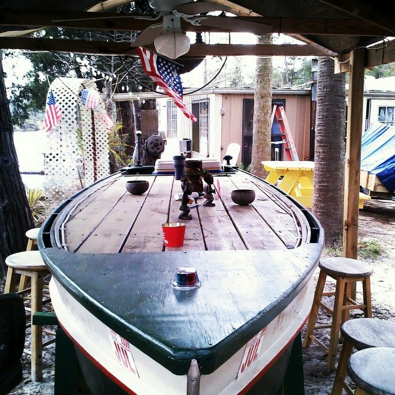 Home Bar Building Plans: 10 Amazing Ways To Repurpose Old Boats In 2020