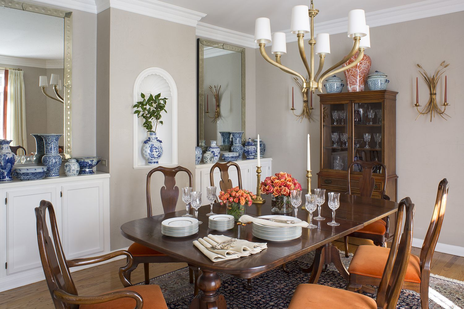 Wendy Labrum Interiors Traditional Queen Anne Dining Room Set