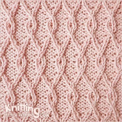 Interlocking Lattice cable stitch. This pattern gives a dense ...