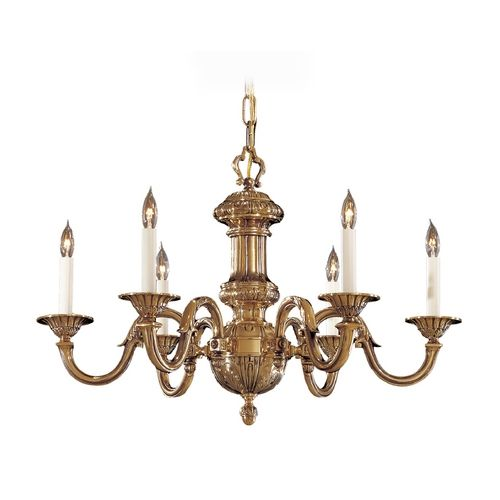 Metropolitan Lighting Chandelier in Classic Brass Finish | N700206 | Destination Lighting