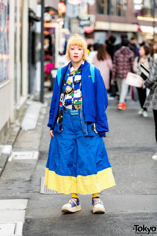 feee9df22a23 Blue Harajuku Street Style w  San To Nibun No Ichi
