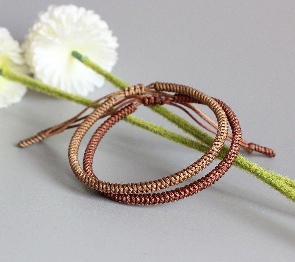 Original multi color adjustable tibetan buddhist knots good lucky