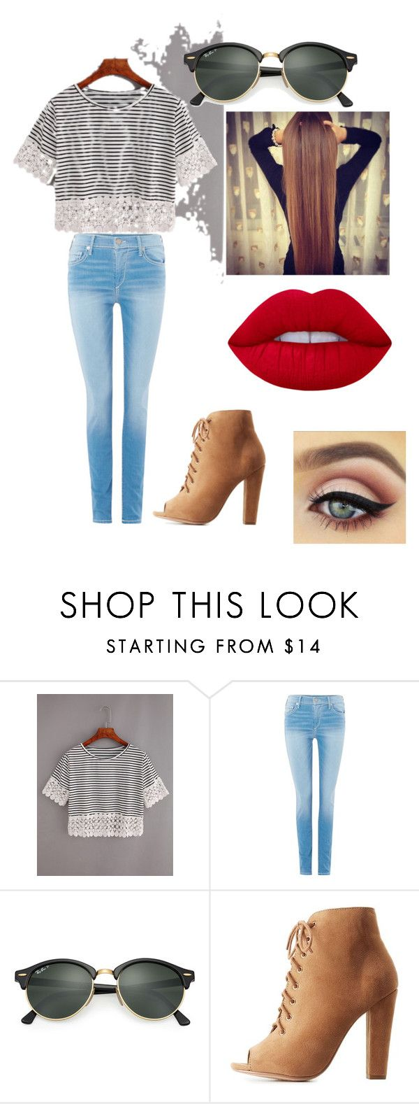 """Random#4"" by sarahe2733 ❤ liked on Polyvore featuring True Religion, Ray-Ban, Delicious and Lime Crime"