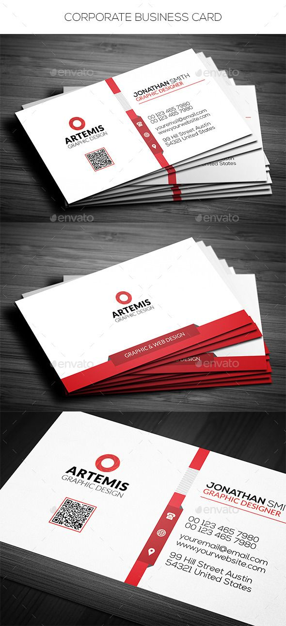 Simple corporate business card reheart Images