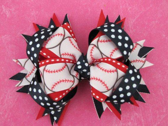 Made to Match team colors Baseball Bow by TheSewCuteStore on Etsy
