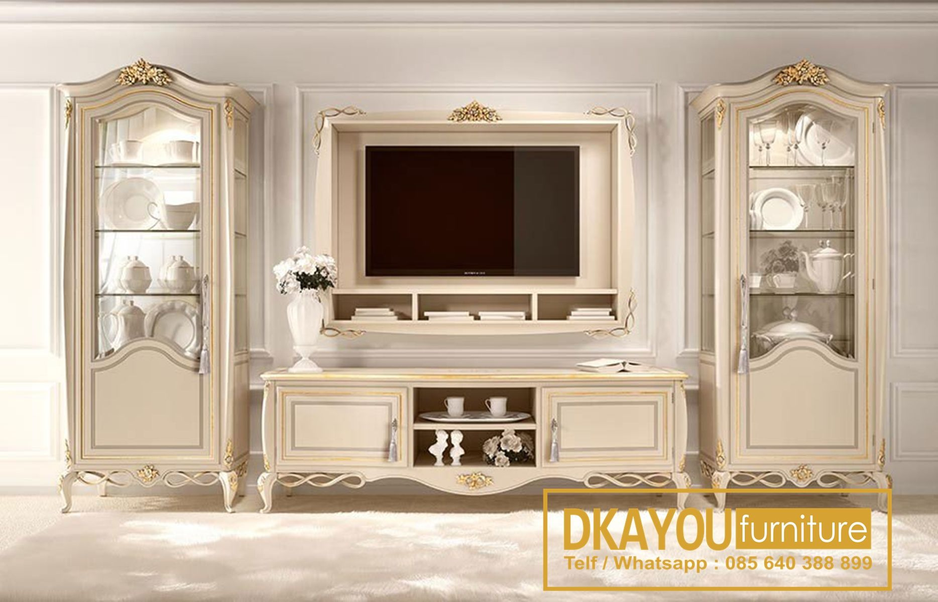 Set Bufet Tv Klasik Mewah Eropa Terbaru Cabinet Tv Klasik Jepara Btv 131 Df Dkayou Furniture Indonesia Furniture Classic Furniture Living Room Tv Stand #tv #units #for #living #room