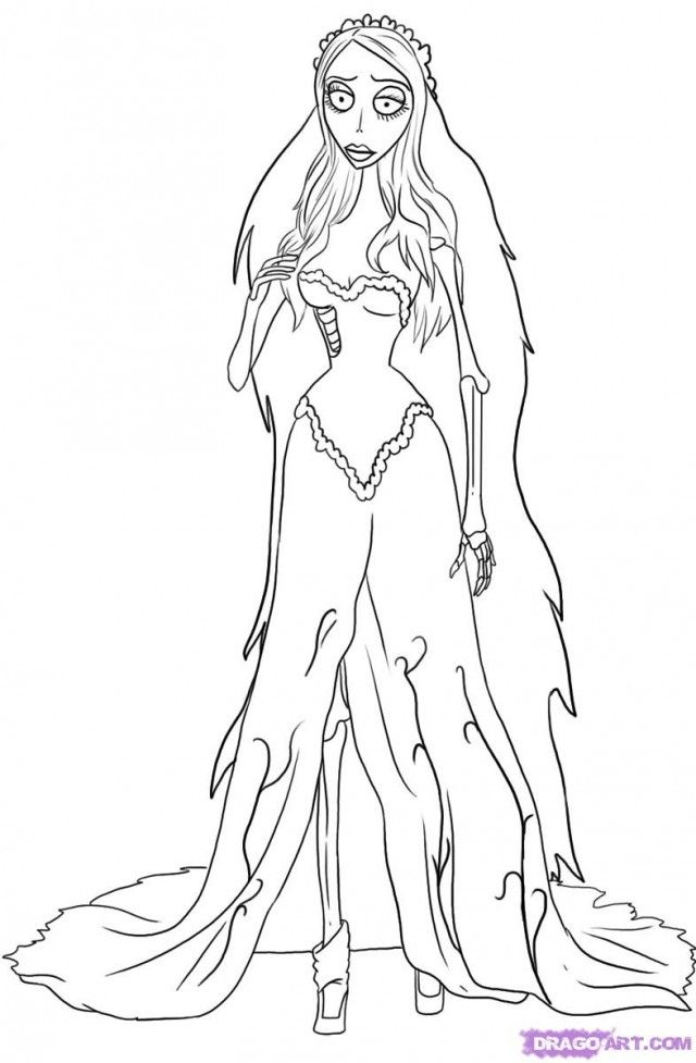 Corpse Bride Coloring Pages corpse
