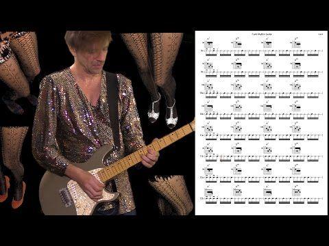 Funk Rhythm Guitar Playing 16th Note Rhythms With A7 D9 Chord Change