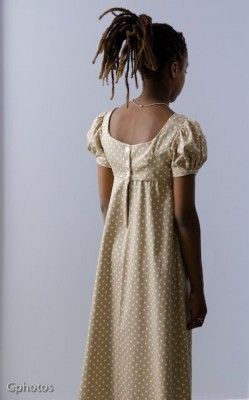 Beautiful Teen Regency Gown Back View| Sense & Sensibility Patterns