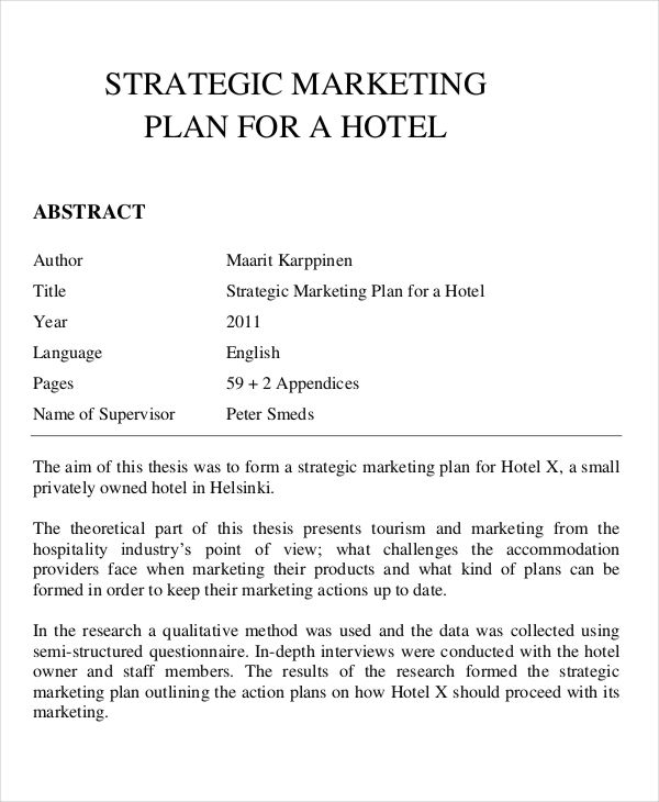Marketing Plans for Hotel | marketing Plan Template