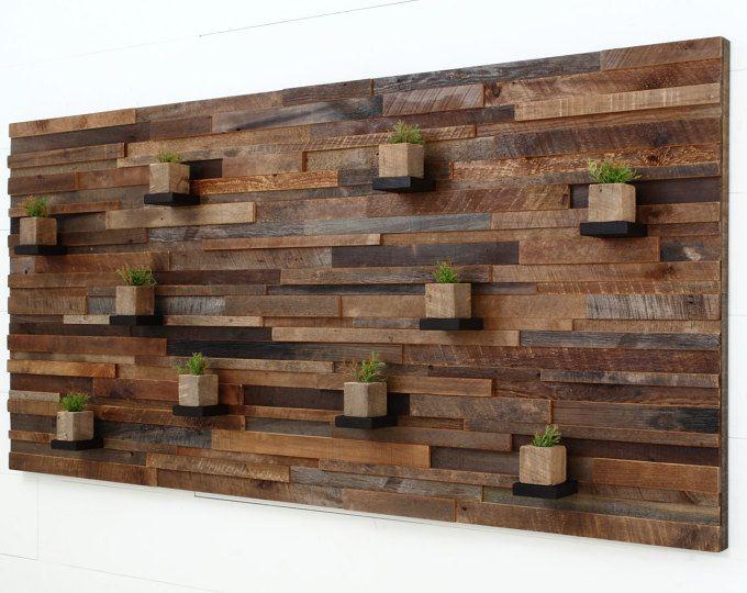 Madera recuperada de la pared arte 37 x 24 x 5 chris 39 s - Maderas decorativas para paredes ...