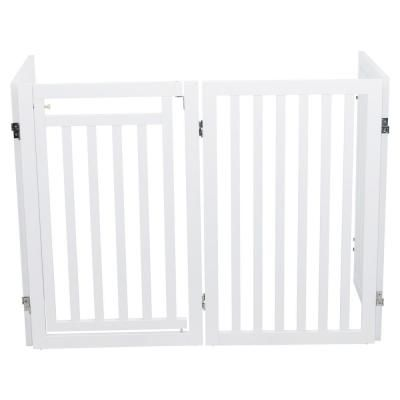 Trixie White Pet Gate Wooden 4 Panel Configurable Pet Gate Pet Gate Wooden Dog Gates Pets