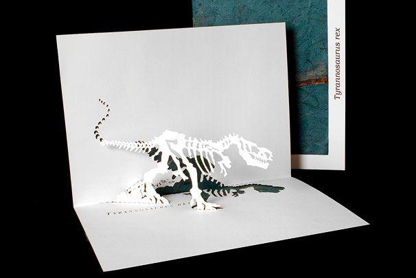 Невеста бросает, объемные открытки динозавр